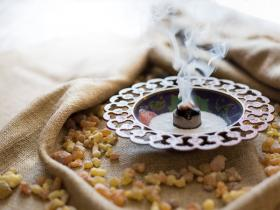 frankincense being burned as incense