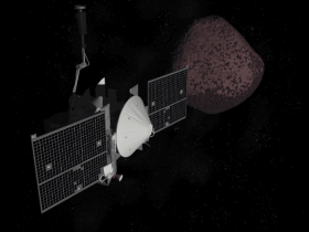 OSIRIS REx spacecraft and asteroid Bennu