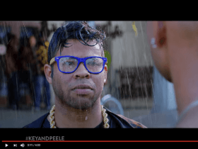 A screenshot of the Key and Peele Yoiks skit from YouTube