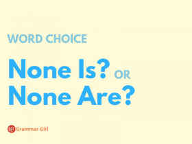 None is or none are?