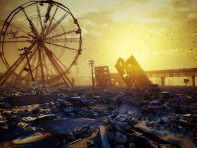 An amusement park where someone has wreaked or wrought havoc.