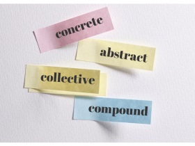 Nouns: concrete, abstract, collective, compound