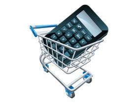 Calculator in a Shopping Cart