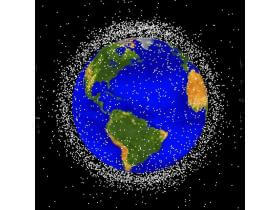 Distribution of space debris tracked by NASA
