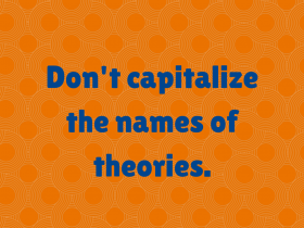 capitalize theories