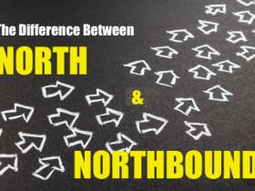 north or northbound