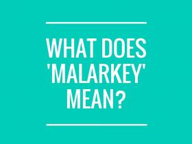 what is malarkey?