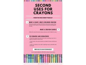 second uses for crayons