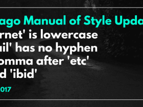 Chicago Manual of Style Updates 2017