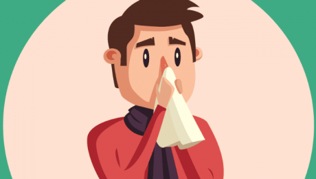 image of a man with the cold or the flu