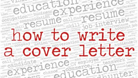 image with text 'how to write a cover letter'