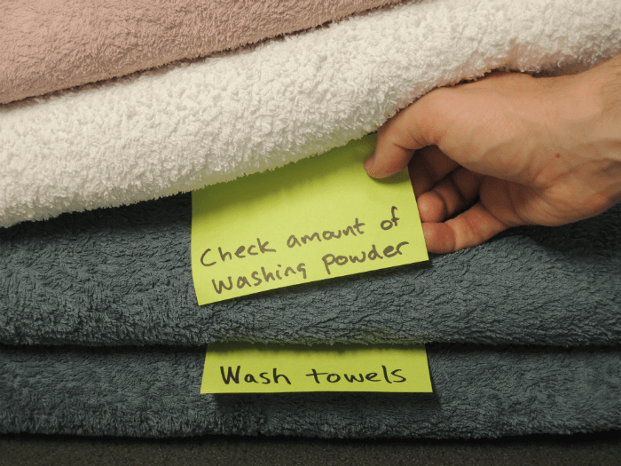 image of towels using kanban method