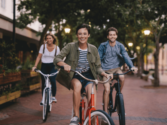 Photo of people riding their bikes
