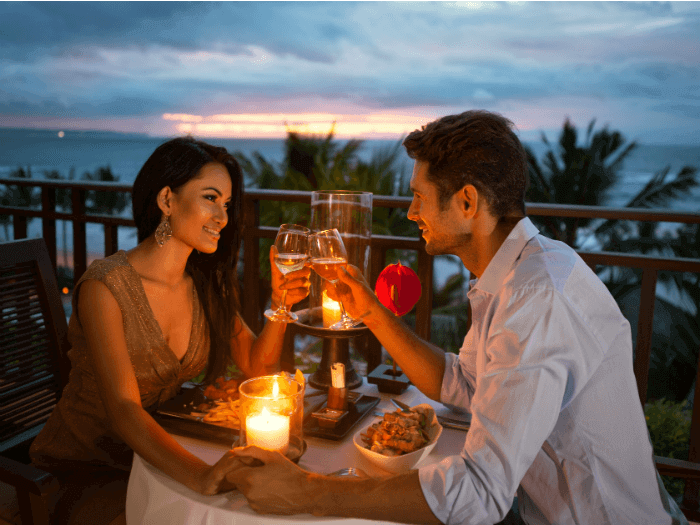 image of couple having romantic dinner