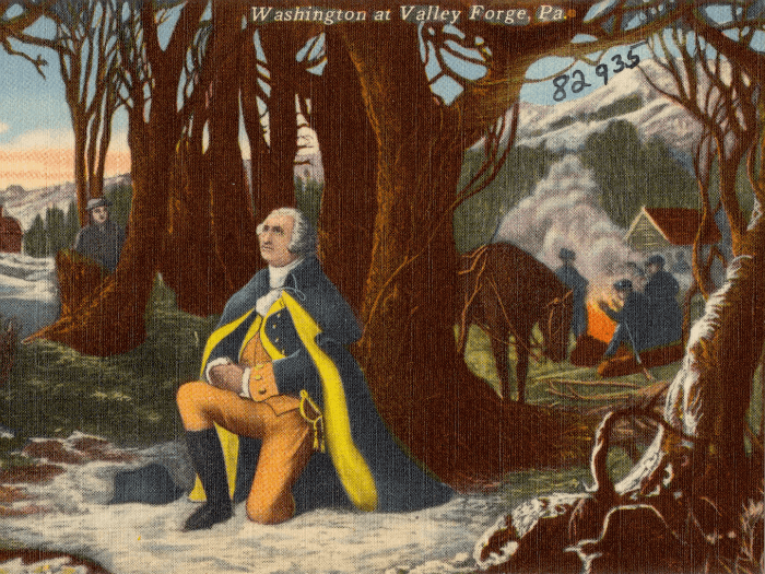 George Washington praying at Valley Forge