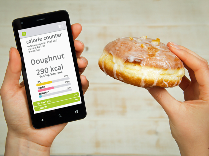 Donut and calorie counter