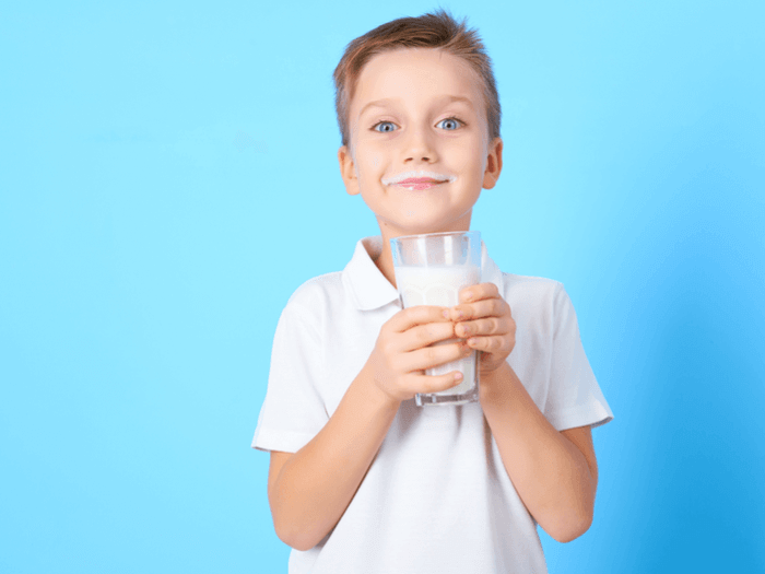 Boy with milk mustache