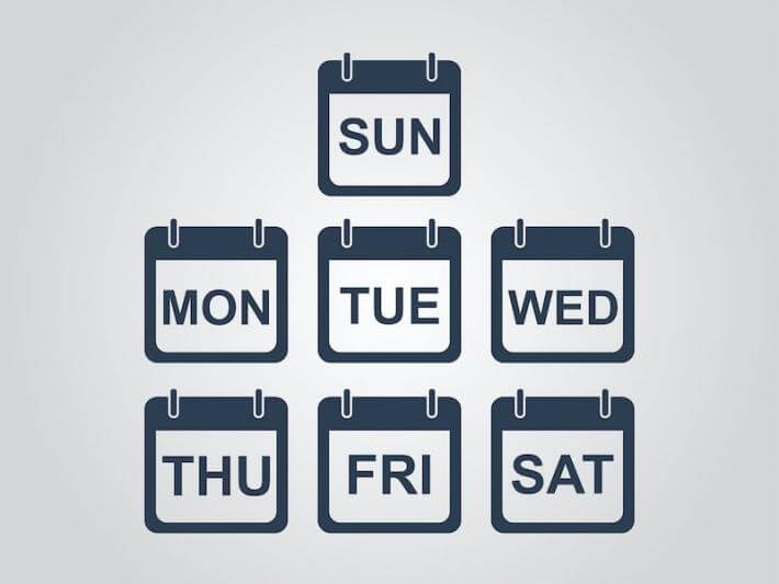 icons of days of the week