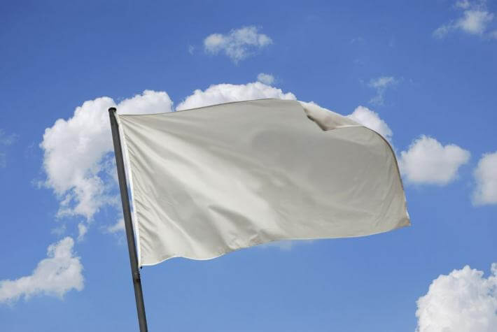 A white flag representing capitulation