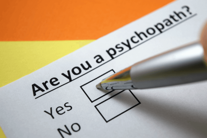 checklist for psychopath