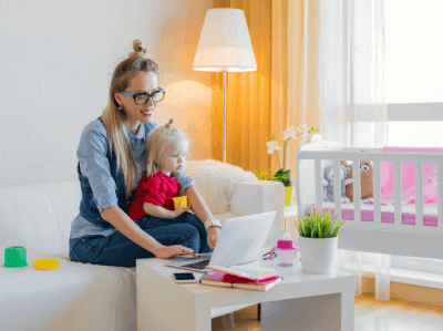 a stay-at-home mom making money on the side