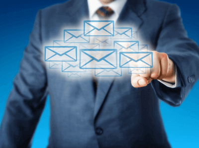 image of business person simplifying email