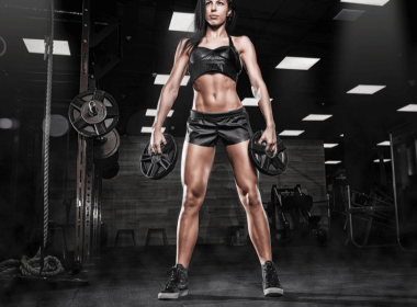 Photo of a woman with strong quads