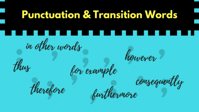 commas with transition words grammar girl