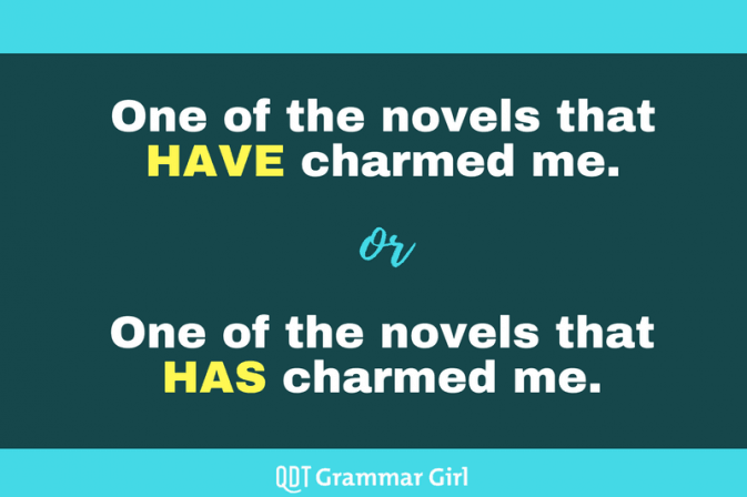 Singular or Plural Verbs with 'One of The' | Grammar Girl