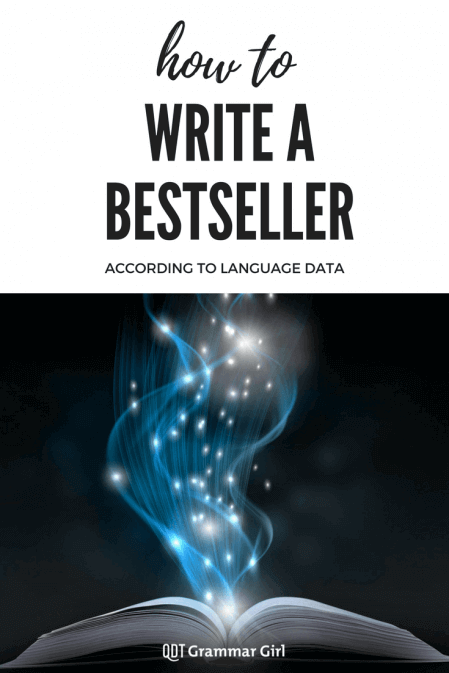 How to write a best seller according to language researchers. Parts of speech matter!