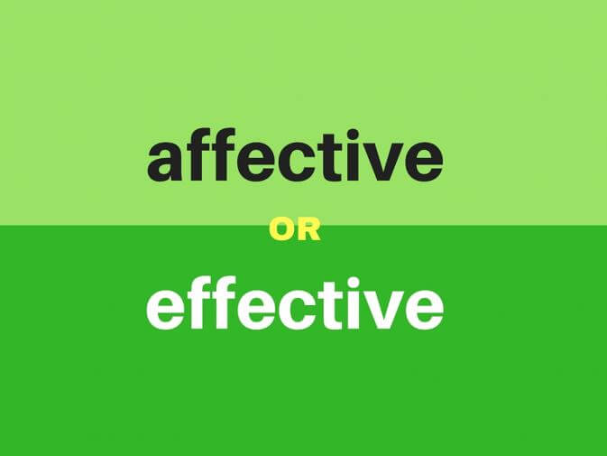 affective or effective