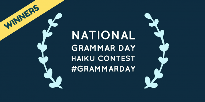 National Grammar Day Haiku Contest Winners 2017