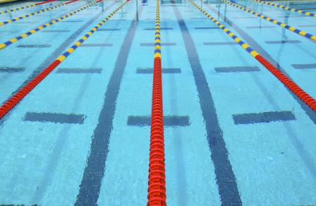 A photo of Lanes in a swimming pool