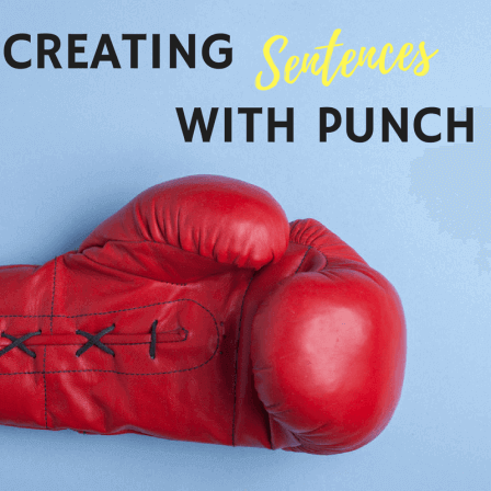 boxing glove to illustrate creating sentences with punch