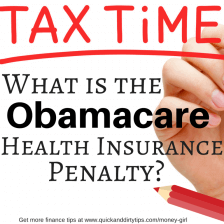What Is the Obamacare Health Insurance Penalty?