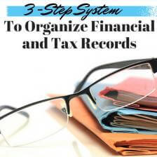 A 3-Step System to Organize Your Financial and Tax Records