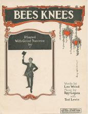 Bees knees sheet music cover public domain